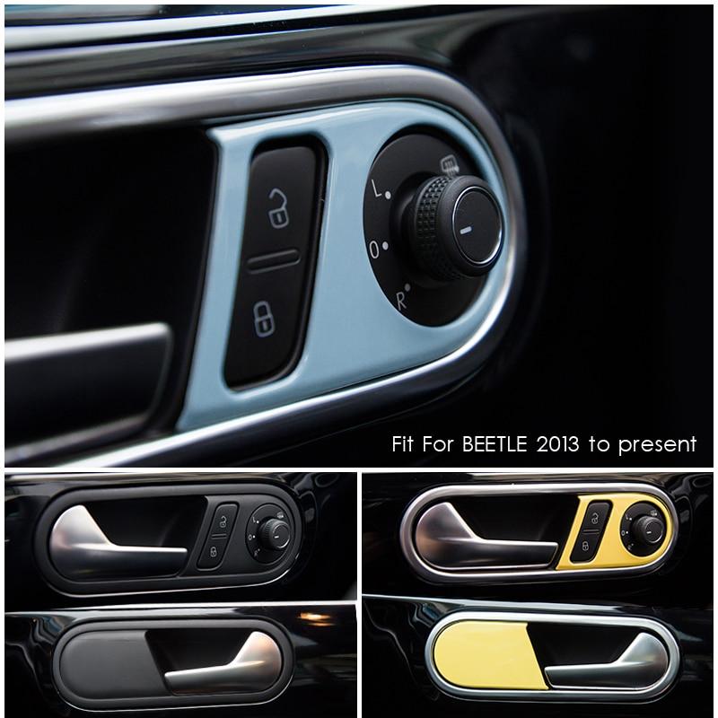Fit For Valkswagen New Beetle Interior Door Handle Frame Cover Surround Panle Trim Moulding