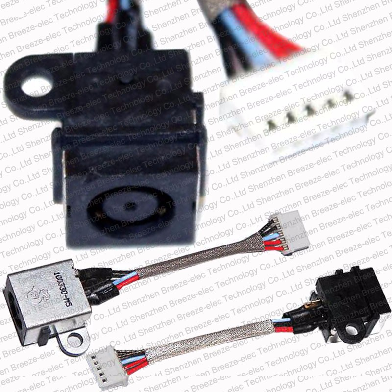 100% Tested BRAND NEW AC DC Power Jack Socket And Cable Wire For Dell Inspiron 1464 1564 1764 Series 0K5PF K5PF 06K5PF
