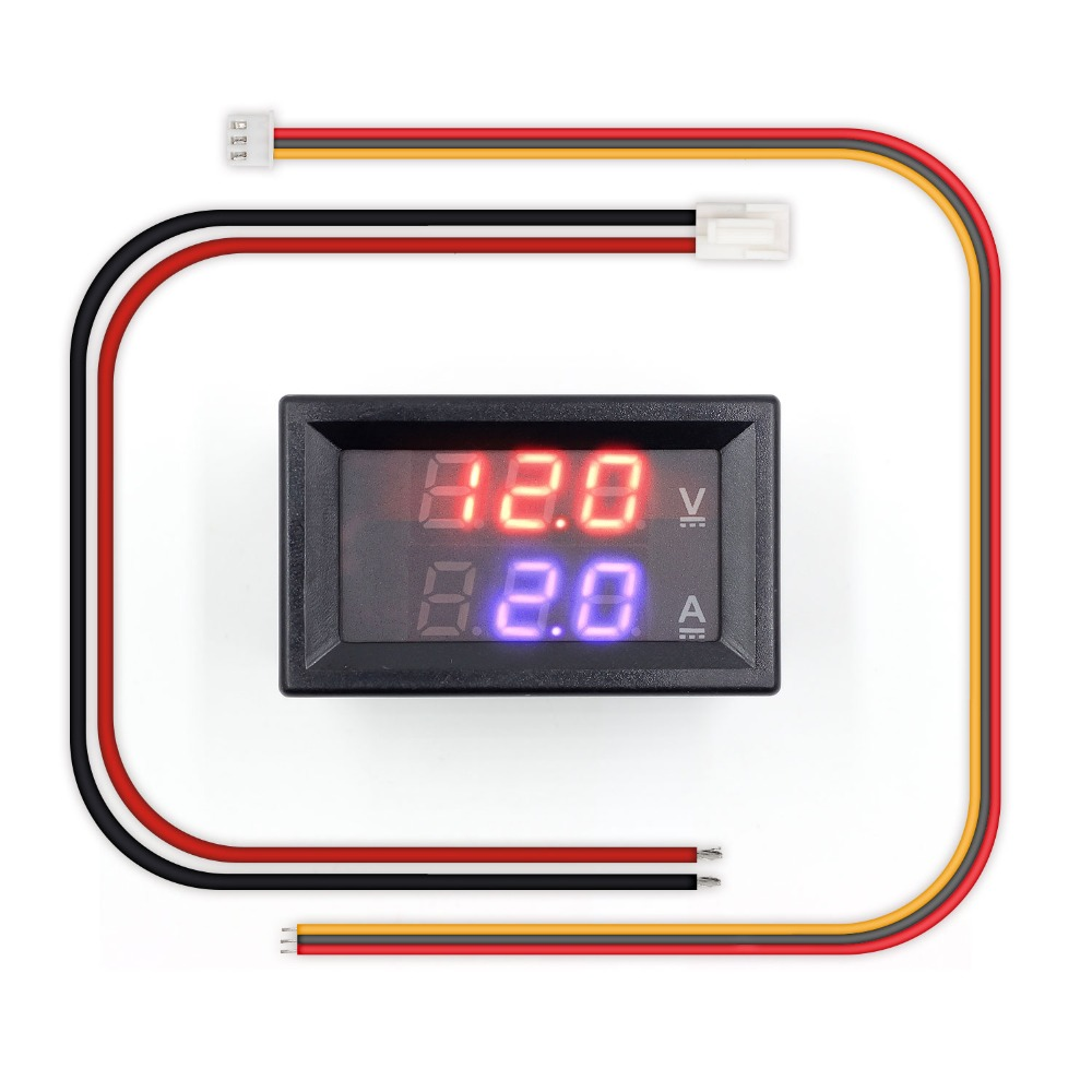 Mini Digital Voltmeter Ammeter DC 100V 10A Panel Amp Volt Voltage Current Meter Tester 0.28 Blue Red Dual LED Display dc 0 100v 10a digital voltmeter ammeter led dual display voltage current indicator monitor detector dc amp volt meter