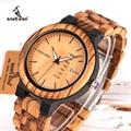 relogio masculino BOBO BIRD Wood Watch Men erkek kol saati Week Display Date Japan Quartz Men' Watches Accept Logo Drop Shipping