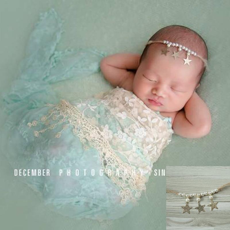 ręcznie wykonana opaska niemowlęca, opaska noworodka, perła - Odzież dla niemowląt - Zdjęcie 1
