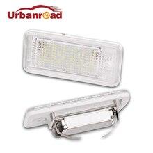 Urbanroad 2 шт. светодио дный номерной знак свет лампы для Audi A6 A4 C6 A3 S3 S4 B6 B7 S6 A8 S8 Rs4 Rs6 Q7 лицензии плиты лампа