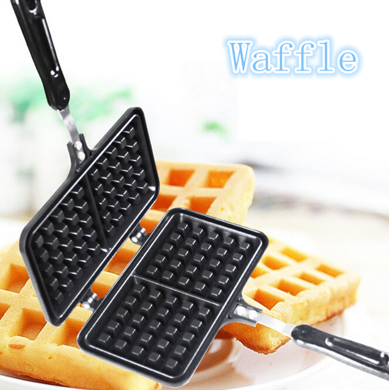 Waffle Bake Tools Rectangle DIY Mold Maker Baking Cookie Cake Muffin Cooking Tools Pastry Aluminum Kitchen