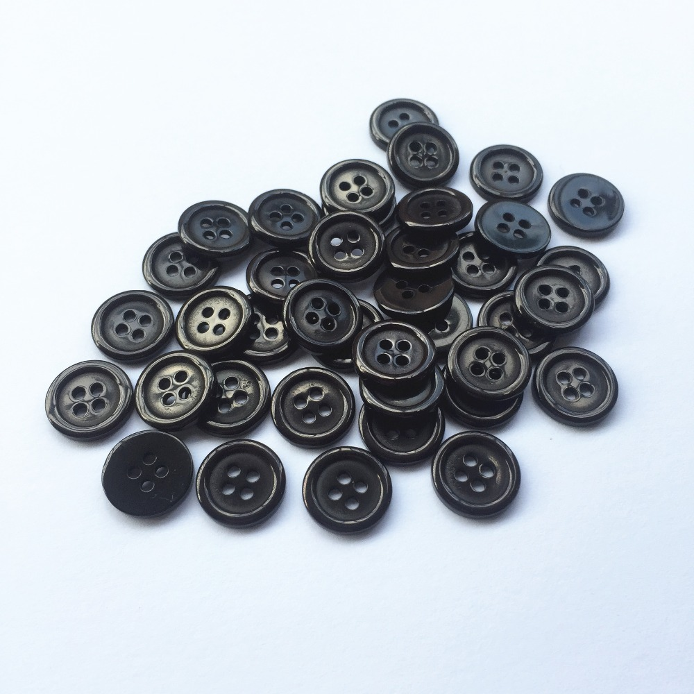 50//100pcs DIY Resin 4 Holes Round Pattern Buttons Sewing Clothes Accessories
