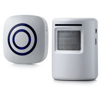 New Wireless Doorbell PIR Infrared Motion Sensor Detector Induction Door Chime 38 Melody US Plug Set