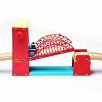 Thomas ve Arkadaşları -- Kırmızı Süspansiyon Köprü Ahşap Parça Thomas Ahşap Tren Parça Demiryolu Aksesuarları Oyuncak