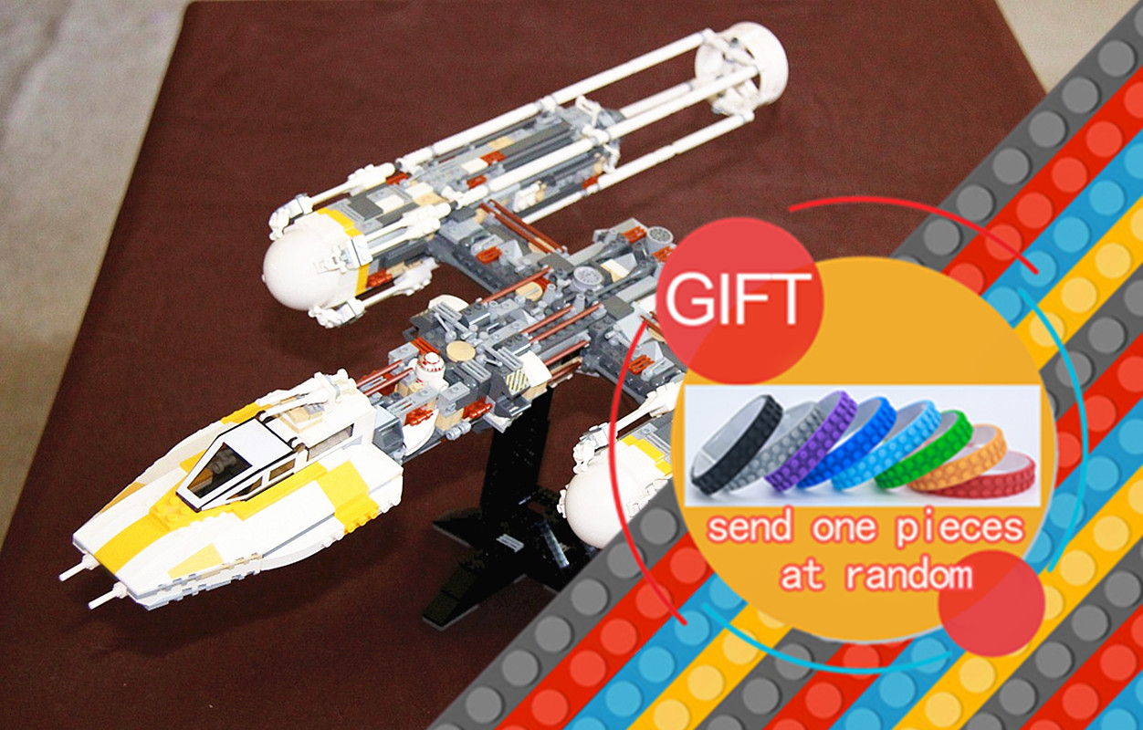 05040 1473Pcs Star Series Wars Y Star wing Attack fighter Building Assembled Blocks DIY Educational Gift Compatible 10134 lepin lepin 05040 star series y toy wing set attack fighter educational building block assembled brick compatible with war toys 10134