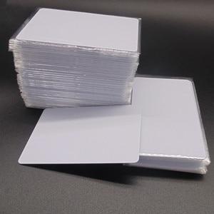 Image 4 - 1000 teile/los Mi fare1k s50 13,56 MHZ F08 IC NFC Tag Weiße Karte Access control DHL Kostenloser versand
