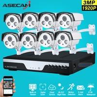 Супер Full HD 8ch 1920 P Best Ночное Видение безопасности Камера Системы ИК Массив Ночное видение Пуля CCTV 3mp комплект видеонаблюдения