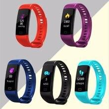 1 pc/pacote Heart Rate Monitor de Fitness Esporte À Prova D' Água À Prova de Poeira LCD Colorido Touch-Screen Inteligente Pulseira para a Saúde