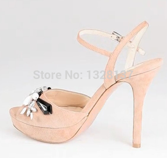 women rhinestone shoes Open Toe Thin High Heel High Quality Summer Sandal Women Fashion Shoes Heel Buckle Strap Unique Shoes
