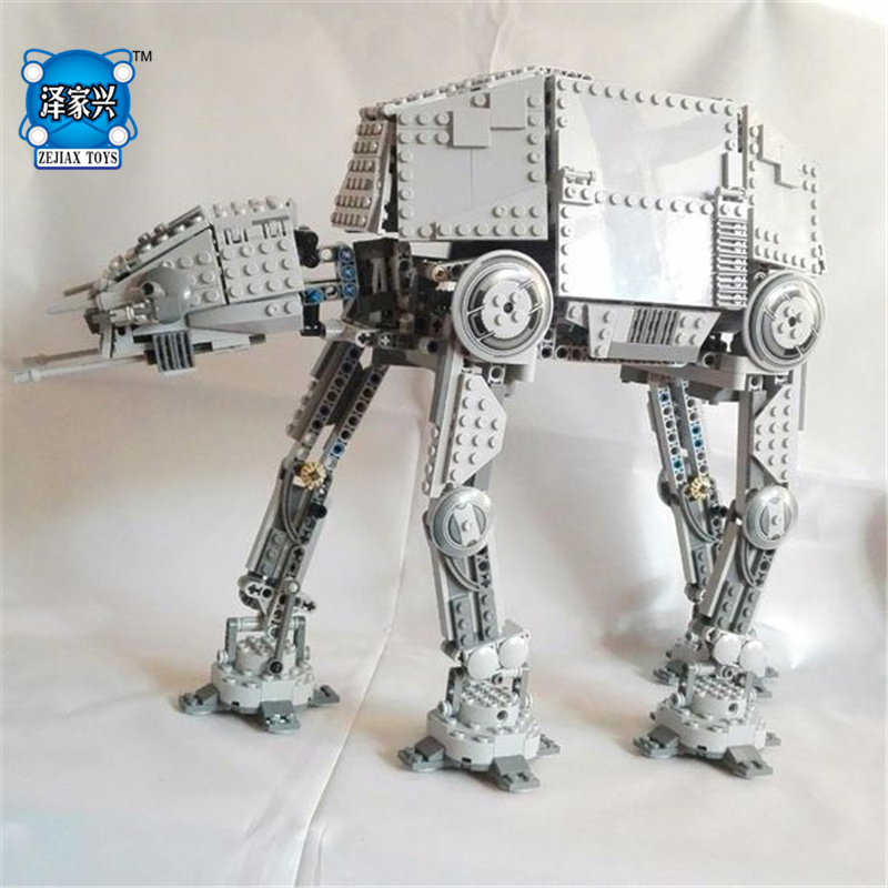 NEW 1167pcs Star Series AT- The AT Robot Electric Remote Control Building Blocks Toys Compatible with Lepins Figures Wars hot new compatible legoinglys star wars series motorized walking at at model robot building blocks toys for children gift