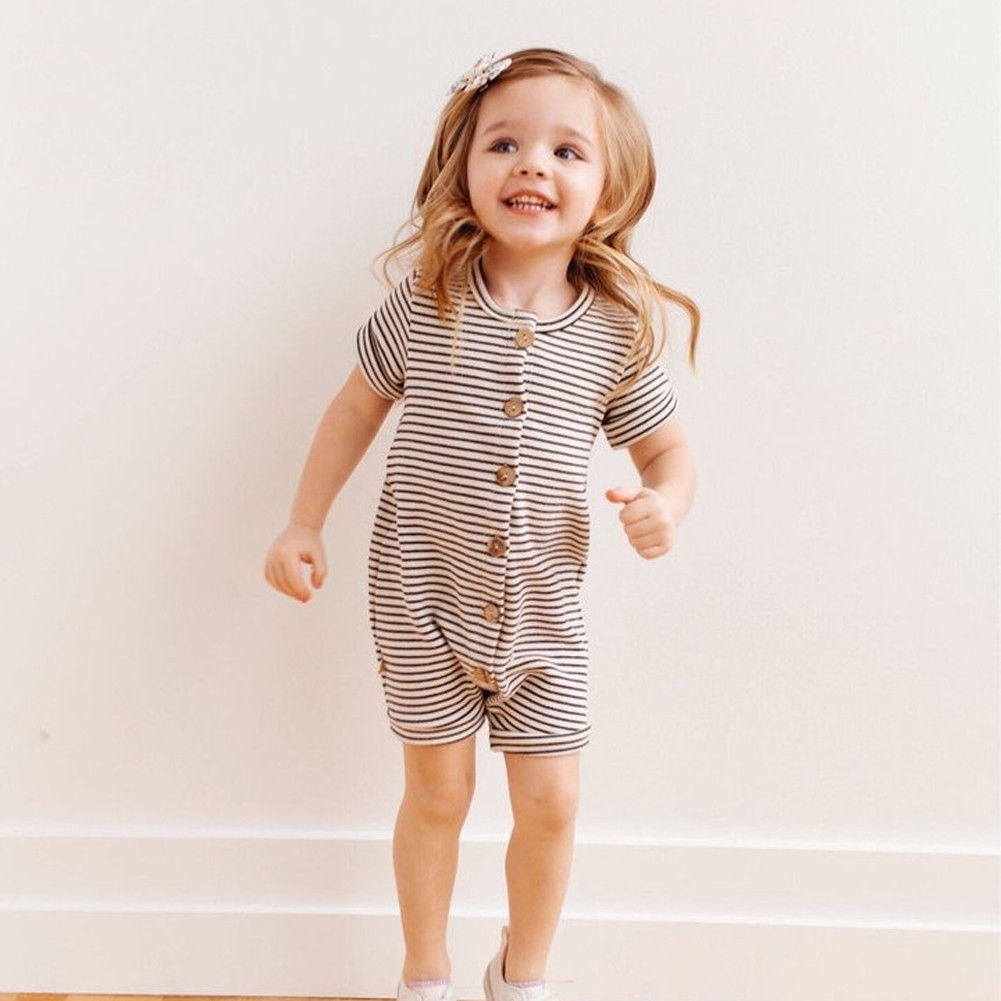 2018 Brand New Newborn Toddler Infant Baby Boys Girl Casual Romper Jumpsuit Cotton Short Sleeve Clothes Summer Sunsuit Outfits