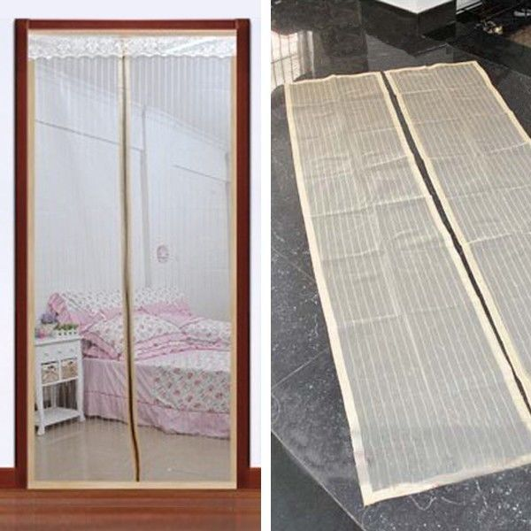 Mosquito screen door screen window curtain fly curtain for Screen new window