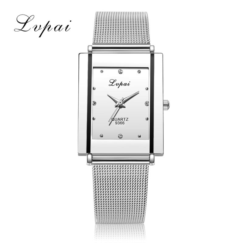 New Arrive LVPAI Brand Women Fashion Luxury Watch Square Ladies Quartz WristWatches Bracelet Women Dress Watch Relogio LP09