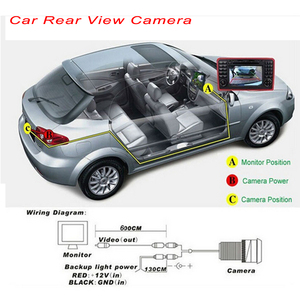 Image 5 - AMPrime Auto CCD Car Rear View Camera Universal Backup Parking Camera Waterproof 170 Wide Angle HD Color Image Reverse Camera