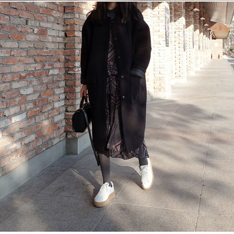 Abner S Garden Center Coupon: 2017 Abner New Fashion Loose Long Women Woolen Coat O Neck