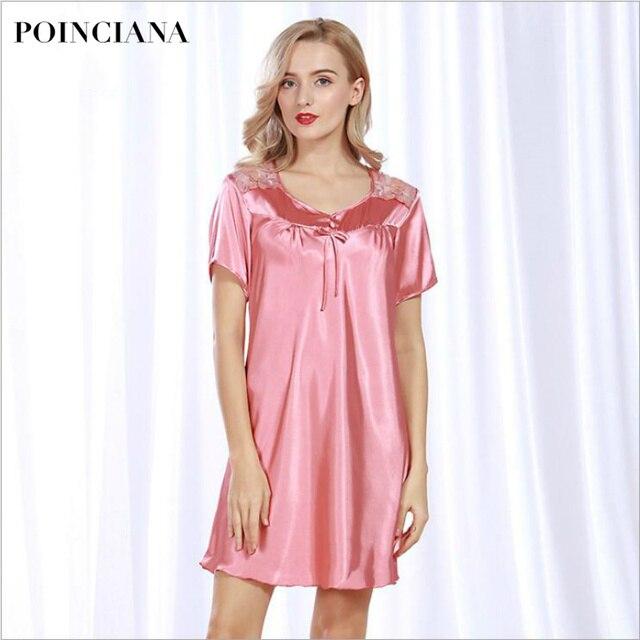 Vetements De Nuit En Soie Elegant Chemises De Nuit Pour Les Femmes