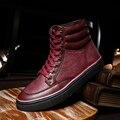 Nuevo 2016 de Invierno de Los Hombres Zapatos de Alta Calidad Zapatos de Cuero de Los Hombres moda de Invierno de los Zapatos Ocasionales Zapatos de Ocio Para Hombre Zapatos de LA UE 39-44