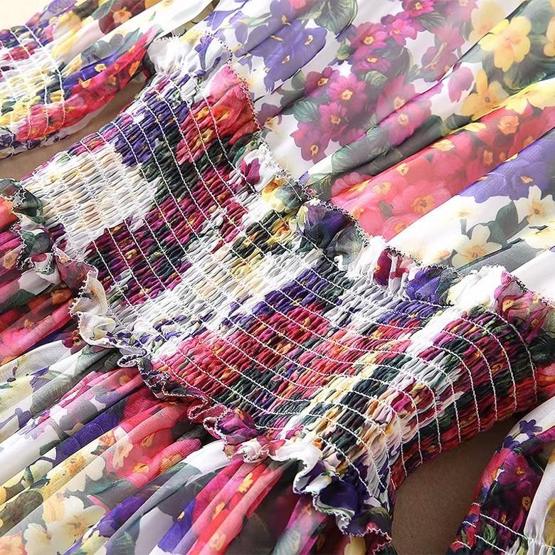 Elegante Np0013 Maxi Progettista Pista Abiti Maniche Lungo 2019 Delle Stampa Vestito Qualità Donne Casual A Di Con Della Alta Del Lunghe fqBa1Rw5n
