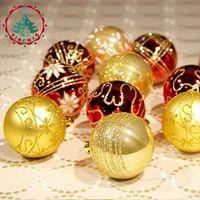 Manufacturers Spot 6 Kinds Of Color Drawing 24 Barrel Christmas Ball 6cm Christmas Tree Decoration Ball