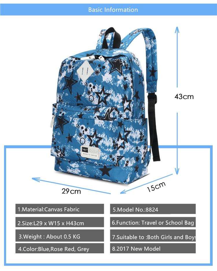 korean style female pink canvas printing backpack kids school bag backpacks  for teenage girls women travel bags bagpack rucksack-in School Bags from  Luggage ... 82d71ca96720c