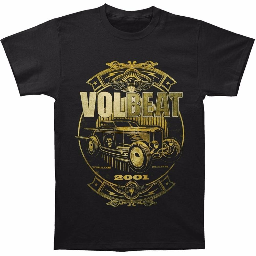 New Fashion T Shirt Cotton T Shirts Crew Neck Short-Sleeve Zomer Mens Volbeat Mens Custom Car Shop T-Shirt Black T Shirts