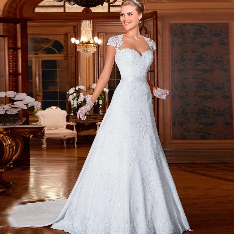 Bridal Detachable Train: Sexy A Line Wedding Dresses 2017 Lace Bridal Gown Sexy