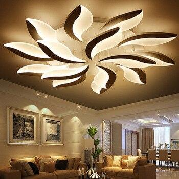 التحكم عن بعد الثريا الأزياء طاحونة الحديثة LED الثريا الديكور الداخلي للمنزل الاكريليك الحديثة أضواء الثريا