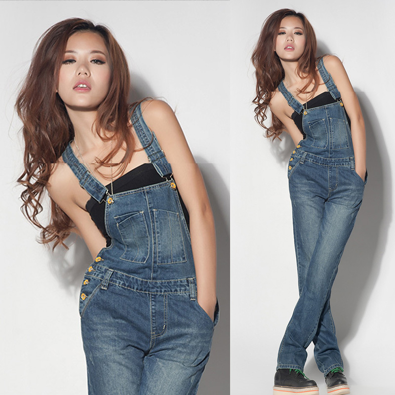 Plus Size Girls Fashion: 2017 Summer Fall Fashion New Women's Denim Rompers
