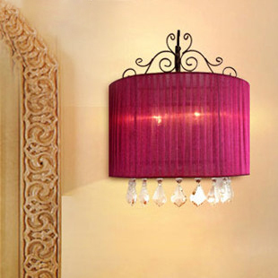 Modern Crystal Wall Lamps Romantic Wine Red Wall Lights Fixture Home Indoor Lighting Bedroom Bed Side Foyer Dining Room Lamps indian kinky straight hair weave 3 bundles grace hair products afro kinky curly hair water wave full lace human hair wigs kbl