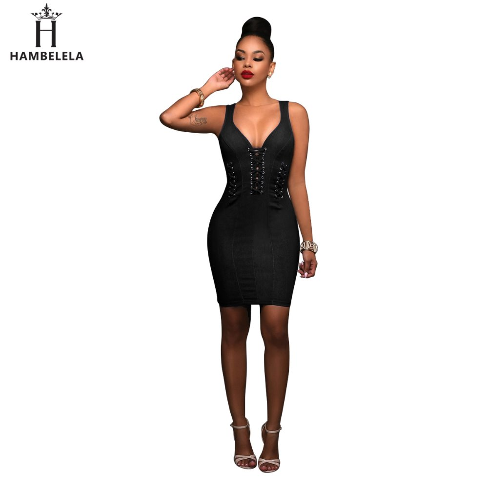 HAMBELELA Recién llegado 2017 Verano Sexy Vestido de mujer con - Ropa de mujer