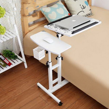 250309/Folding mobile small desk/Home bed with simple desk /Paint steel pipe/Humanized design/Lazy bedside laptop desk /