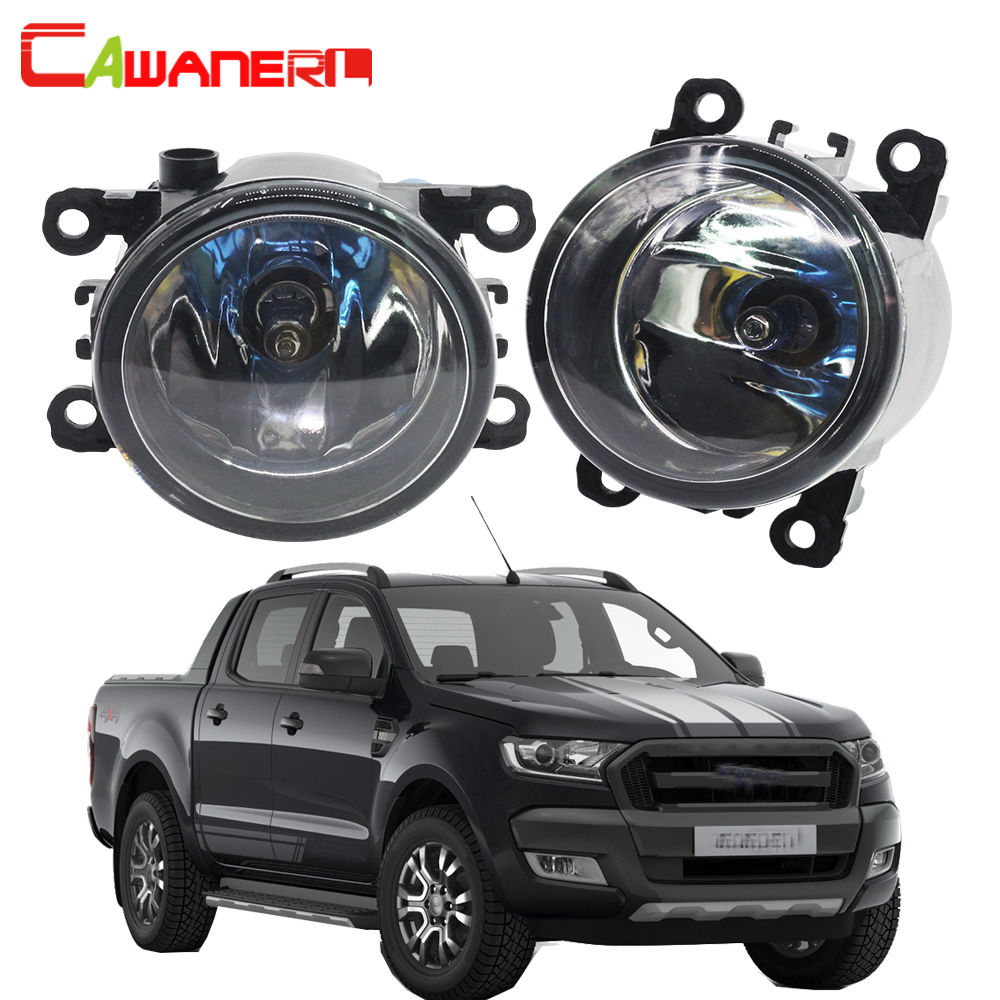 Cawanerl For Ford Ranger 2005-2015 100W H11 Car Halogen Fog Light Daytime Running Lamp DRL 12V High Power 1 Pair for opel astra h gtc 2005 15 h11 wiring harness sockets wire connector switch 2 fog lights drl front bumper 5d lens led lamp