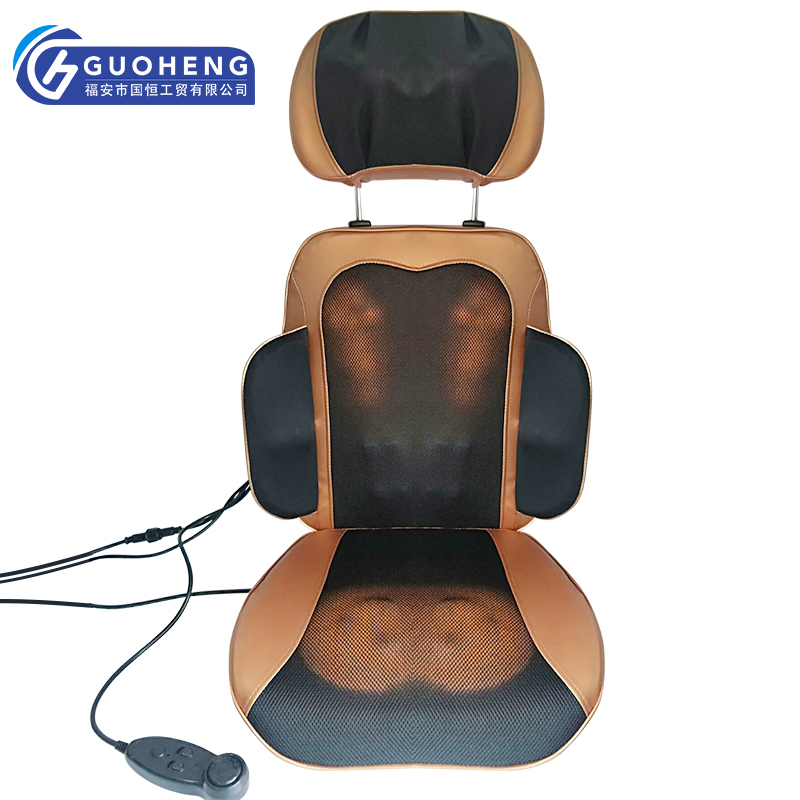 2019 new electric shiatsu mini car seat chair massager with heating vibrating for Neck Back Massage Relaxation Health Care