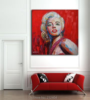 Marilyn Monroe Wall Art 100 Hand Painted Painting On Canvas For Bar Cafe Palette Knife Pop