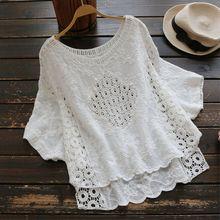 79a65a122 White Embroidery Boho Blouses - Compra lotes baratos de White ...