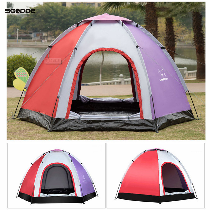 SGODDE 6 Person Outdoor Automatic Instant Tent Throwing Pop-Up Hiking Fishing Camping Beach Tent Set Waterproof Large Tents недорго, оригинальная цена