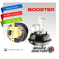 "Brake Booster VH44 Black BRAND NEW+HOT RODS BD-059 7"" WITH FITTING KIT"