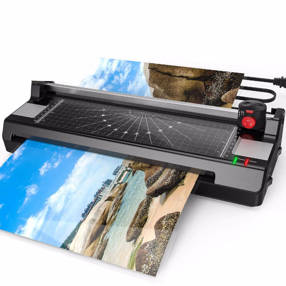 5 in 1 Pouch Laminator for A3/A4/A6, Thermal Laminating Machine for Home Office School with Paper Trimmer and Corner Rounder5 in 1 Pouch Laminator for A3/A4/A6, Thermal Laminating Machine for Home Office School with Paper Trimmer and Corner Rounder