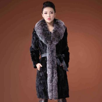 Autumn faux mink leather jacket womens long coats winter thicken warm fur leather coat women slim jackets fashion big fur collar autumn faux mink leather jacket mens winter thicken warm fur leather coat men slim jackets jaqueta couro fashion big fur collar