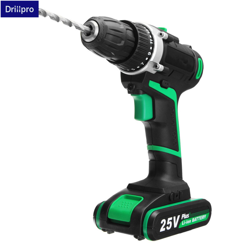 110-220V 25V power tools electric Drill Li-ion Battery Electric Screwdriver Screw Driver Power Drill 1 Battery 1 Charger цена