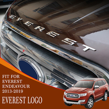 FREE SHIPPING HIGH QUALITY EVEREST CHROME LOGO FOR FORD 2014 2015 2016 2017 2018