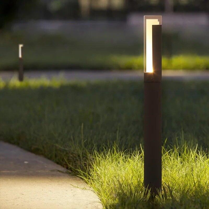 Işıklar ve Aydınlatma'ten LED Çim Lambaları'de LukLoy Açık LED Çim Lambaları Modern Basit Akrilik Bahçe Avrupa Işıkları Park Kare Villa Bahçe Çim Peyzaj Işıkları title=