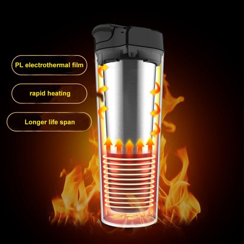 350 мл авто Подогрев чашки регулируемая температура автомобиля кипячение кружка электрический чайник кипячение машина, инструменты для автомобиля аксессуары 70 Вт - 6