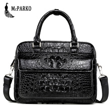 Luxury crocodile Briefcase genuine Leather alligator skin Bag men Businessman officer briefcase original leather fashion two way designer genuine alligator skin ladies women pink day clutches exotic crocodile leather wristlets card case bag
