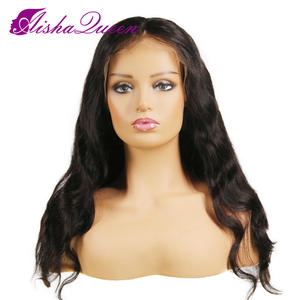 Body Wave Virgin Hair Lace Front Wig For Black Women With Baby Hair