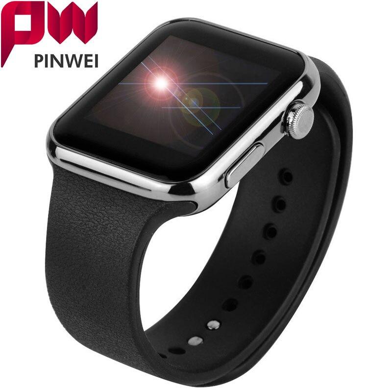 A9 Smartwatch, Bluetooth Smart İzle Kol Apple iPhone IOS Android Telefon için Giyilebilir Cihazlar Spor İzle PK GT08 DZ09 F69