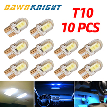 Car Interior Lights T10 Led W5W 168 194 COB Reading Light License Plate Light Silica Car Super Bright Turn Side Lamp Bulb DC12V aotomonarch 194 t10 led w5w white car super bright 2 smd automobile turn side license plate light lamp bulb led light lamp be