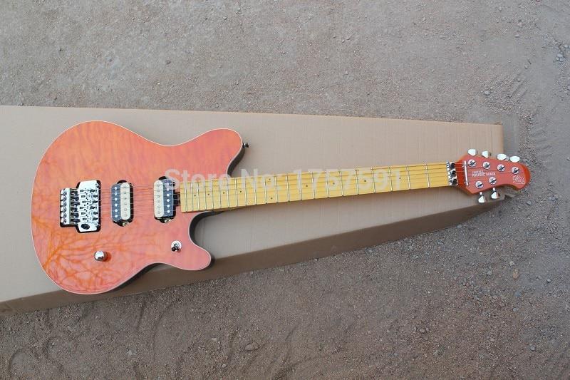 Chaud en gros de haute qualité 6 cordes érable doigt conseil musique homme Ernie Ball Axis rouge guitare électrique